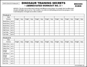 Dinosaur Training Secrets Volume I Abbreviated Workout 3